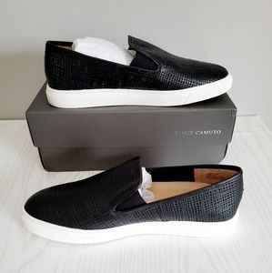 Vince Camuto Becker leather slip ons NIB